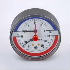 Термоманометр аксиальный F+R818 WATTS Ind 4бар 120 град.C
