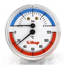 Термоманометр аксиальный ITAP 4бар 120 град.C