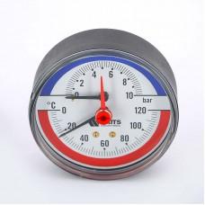 Термоманометр аксиальный F+R818 WATTS Ind 10бар 120 град.C