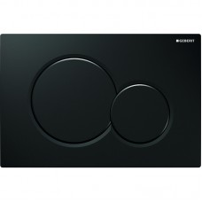 Кнопка смыва Geberit Sigma01 черный RAL 9005