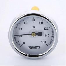 Термометр биметаллический F+R801 63мм с погружной гильзой WATTS Ind 160 град.C гильза 75мм