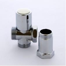 """Вентиль проходной с удлинителем для стиральных машин хромированный ITAP 3/4""""х3/4""""х3/4"""""""