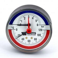 Термоманометр аксиальный F+R818 WATTS Ind 6бар 120 град.C