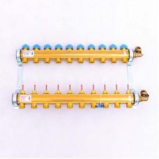 """Коллекторная группа HKV/T с термостатическими вентилями и расходомерами WATTS Ind 1""""x3/4""""ЕК 10 выходов"""