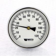 Термометр биметаллический F+R801 100мм с погружной гильзой WATTS Ind 120 град.C гильза 100мм