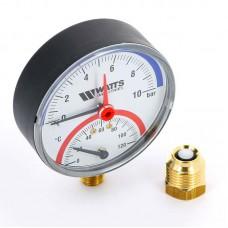 Термоманометр радиальный F+R828 WATTS Ind 10бар 120 град.C